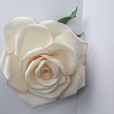 """Украшения ручной работы. Ярмарка Мастеров - ручная работа Брошка - заколка """"Крупная роза"""". Handmade."""
