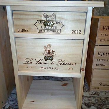 Мебель ручной работы. Ярмарка Мастеров - ручная работа Тумба прикроватная с двумя ящиками. Handmade.