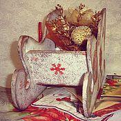 Подарки к праздникам ручной работы. Ярмарка Мастеров - ручная работа Саночки Деда Мороза. Handmade.