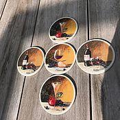 Винтаж handmade. Livemaster - original item Coasters Cup glass