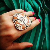 Украшения ручной работы. Ярмарка Мастеров - ручная работа Терракотовое кольцо. Handmade.