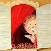 """Картины и панно ручной работы. Ярмарка Мастеров - ручная работа Картина маслом """"Ангел в моем окошке"""".. Handmade."""