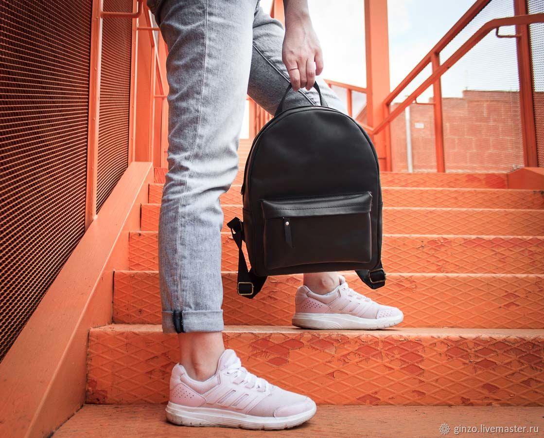 Женский городской рюкзак -COSMO- из винтажной кожи цвет Черный Уголь, Рюкзаки, Тула,  Фото №1