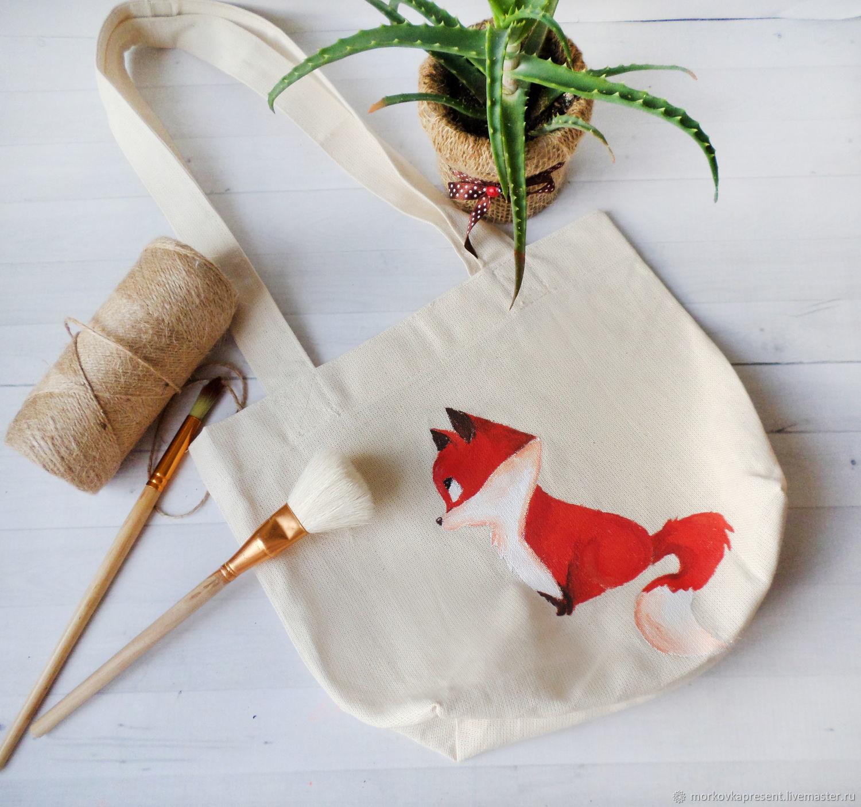 Shopping bag with acrylic paint.Childish, Shopper, Chaikovsky,  Фото №1