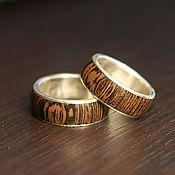 Кольца ручной работы. Ярмарка Мастеров - ручная работа Обручальные кольца с венге. Handmade.