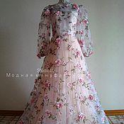 Свадебный салон ручной работы. Ярмарка Мастеров - ручная работа Свадебное платье из органзы. Handmade.