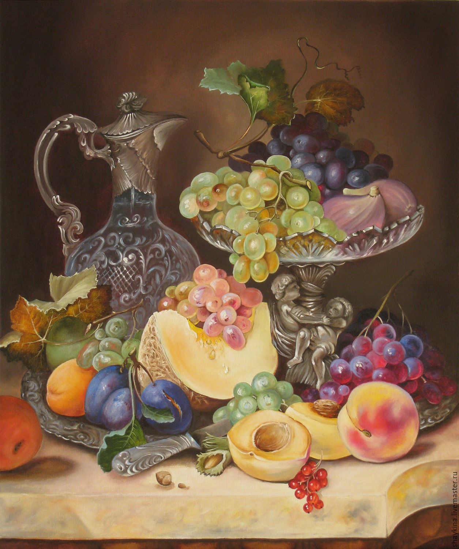 картинки натюрморты с фруктами и посудой