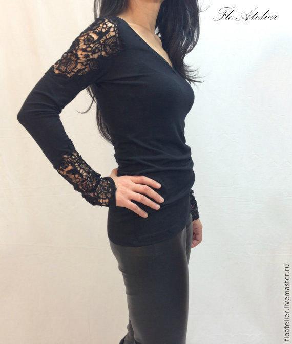 Черные рубашки блузки купить