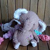 Куклы и игрушки ручной работы. Ярмарка Мастеров - ручная работа Слоник тедди Тимьян ароматный. Handmade.