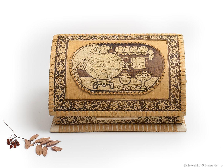 Wooden cat 'Samovar'. Birch bark products, The bins, Tomsk, Фото №1