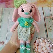Куклы и игрушки ручной работы. Ярмарка Мастеров - ручная работа Зайка Зефиринка. Handmade.