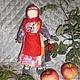 Народные куклы ручной работы. Ярмарка Мастеров - ручная работа. Купить народная кукла Рябинка. Handmade. Ярко-красный
