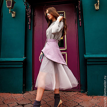 Одежда ручной работы. Ярмарка Мастеров - ручная работа Сиреневая юбка.. Handmade.