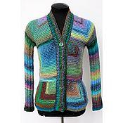 """Одежда ручной работы. Ярмарка Мастеров - ручная работа Кардиган вязаный """"Больше цвета!"""". Handmade."""