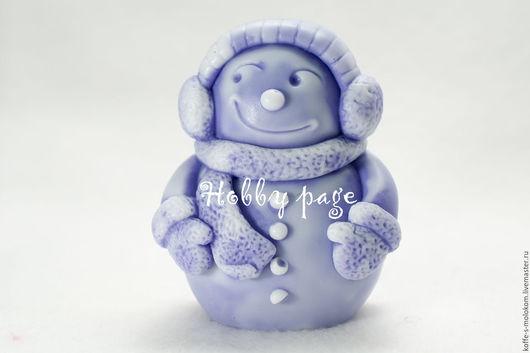 Материалы для косметики ручной работы. Ярмарка Мастеров - ручная работа. Купить Силиконовая форма для мыла Снеговик в шарфике. Handmade.