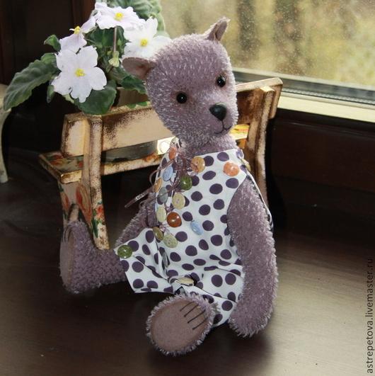 Мишки Тедди ручной работы. Ярмарка Мастеров - ручная работа. Купить Жан-Жак. Handmade. Сиреневый, авторская игрушка, текстиль