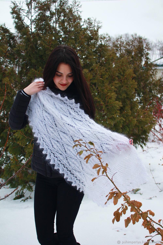 Down stole scarf ' Elegance', Shawls1, Voronezh,  Фото №1