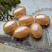 Материалы для творчества handmade. Livemaster - original item Mother of pearl rhinestone Cream brulee 13h18 mm oval. Handmade.