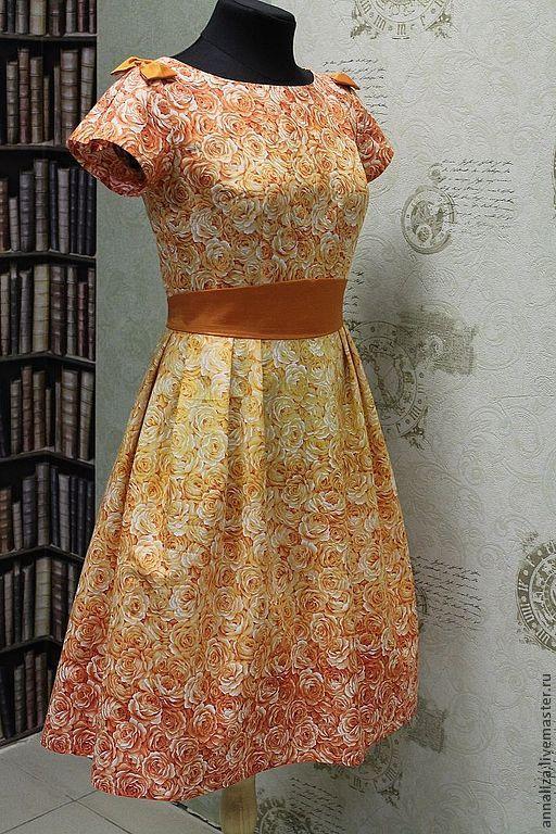 """Платья ручной работы. Ярмарка Мастеров - ручная работа. Купить Платье в стиле 60-х """"Эдемский сад"""". Handmade."""