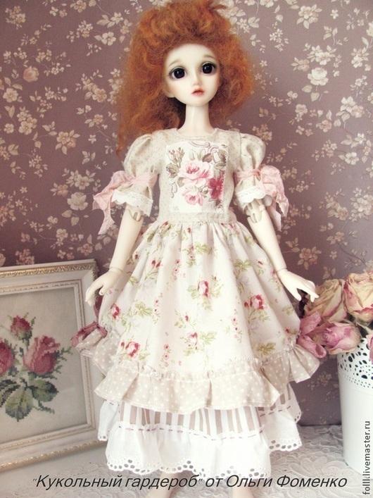 Одежда для кукол ручной работы. Ярмарка Мастеров - ручная работа. Купить Платье  для куклы БЖД (MCD)  №32. Handmade.