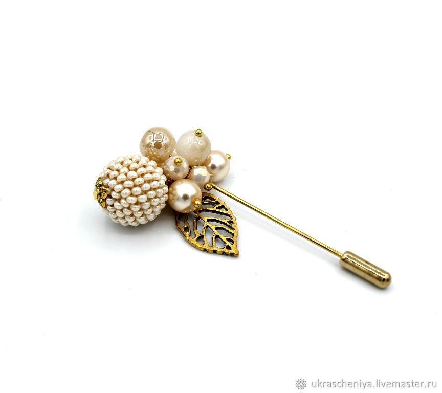 Brooch-needle 'Tenderness', Brooches, Ryazan,  Фото №1