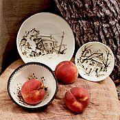Посуда ручной работы. Ярмарка Мастеров - ручная работа Керамическая посуда Деревенская Архитектура. Handmade.
