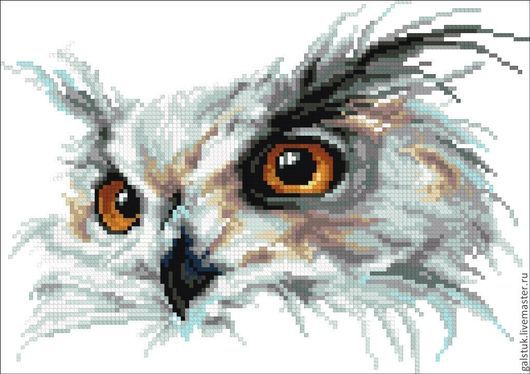 Схема для вышивания бисером `Совиный взгляд`