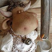 Куклы и игрушки ручной работы. Ярмарка Мастеров - ручная работа Коровушка Буренушка. Handmade.