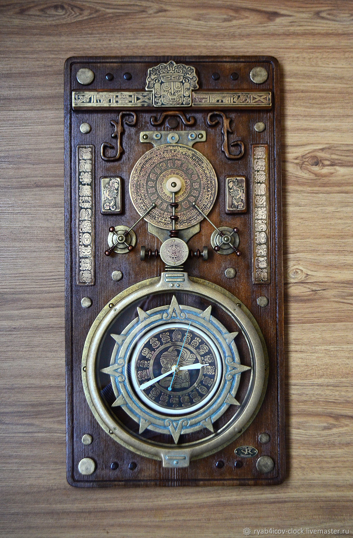 Wall clock decorative-panels. Fantasy on the theme of 'Maya', Watch, Serpukhov,  Фото №1