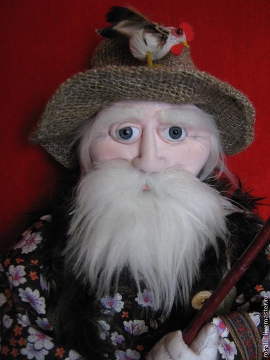 Персональные подарки ручной работы. Ярмарка Мастеров - ручная работа. Купить Текстильная    кукла   Дедушка .. Handmade. Коричневый, текстильная кукла