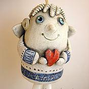 Сувениры и подарки ручной работы. Ярмарка Мастеров - ручная работа Керамический колокольчик. Ангел-малышка.. Handmade.