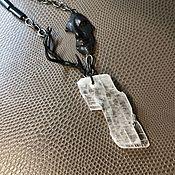 Украшения handmade. Livemaster - original item Echo Necklace. Annabronze color fittings, natural Selenite. Handmade.