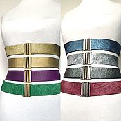 Аксессуары handmade. Livemaster - original item belt-elastic bands of different colors, height 40mm at the price of 1500 rubles for the belt. Handmade.