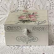Для дома и интерьера handmade. Livemaster - original item Jewelry box shabby chic Pink. Handmade.