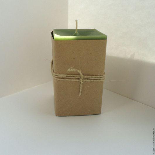 """Свечи ручной работы. Ярмарка Мастеров - ручная работа. Купить Свеча """"Поток Изобилия"""". Handmade. Тёмно-зелёный, защита"""