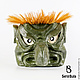 Интерьерные  маски ручной работы. Ярмарка Мастеров - ручная работа. Купить Маска - Каппа - японский водяной. Handmade. Маска