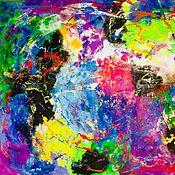 Картины ручной работы. Ярмарка Мастеров - ручная работа Абстрактная картина 80х100 Имплозия. Handmade.