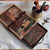 "Канцелярские товары ручной работы. Ярмарка Мастеров - ручная работа Steambook в кейсе ""Rust"". Handmade."
