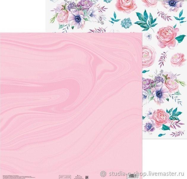 Бумага «Цветочная мечта», 30,5x30,5 см, Бумага, Челябинск,  Фото №1