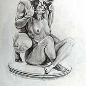 Картины и панно ручной работы. Ярмарка Мастеров - ручная работа Акварель карандашь на заказ. Handmade.