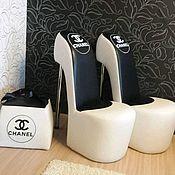 Для дома и интерьера handmade. Livemaster - original item chair-louboutins (slipper) with embroidery. Handmade.