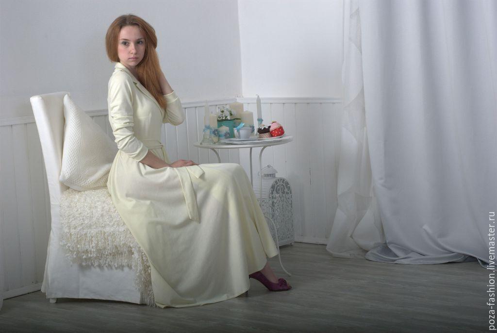 """Платья ручной работы. Ярмарка Мастеров - ручная работа. Купить Платье """"Нега"""". Handmade. Белый, платье на заказ, длинное платье"""