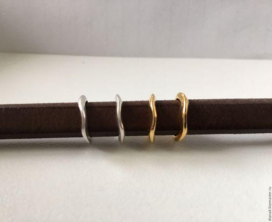 Для украшений ручной работы. Ярмарка Мастеров - ручная работа. Купить Бусина для браслета регализ, овальная, волнообразные. Испания. Handmade.