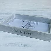 "Для дома и интерьера handmade. Livemaster - original item Поднос "" Tea and cake"". Handmade."