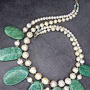 Украшения handmade. Livemaster - original item Necklace natural stone amazonite and pearls. Handmade.