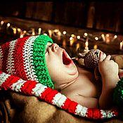 Работы для детей, ручной работы. Ярмарка Мастеров - ручная работа комплект колпачок и гетры для фотосессии новорожденных - гномик. Handmade.