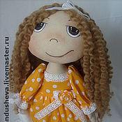"""Куклы и игрушки ручной работы. Ярмарка Мастеров - ручная работа Текстильная кукла """"Девочка с мишкой"""". Handmade."""