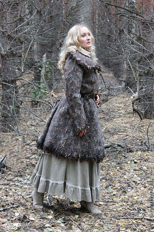 """Верхняя одежда ручной работы. Ярмарка Мастеров - ручная работа. Купить Двухстороннее пальто """" Regina di foresta"""". Handmade."""