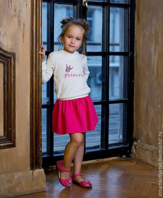 """Одежда для девочек, ручной работы. Ярмарка Мастеров - ручная работа. Купить Толстовка """"Принцесса"""" с розовой юбкой. Handmade. Комбинированный, розовый"""