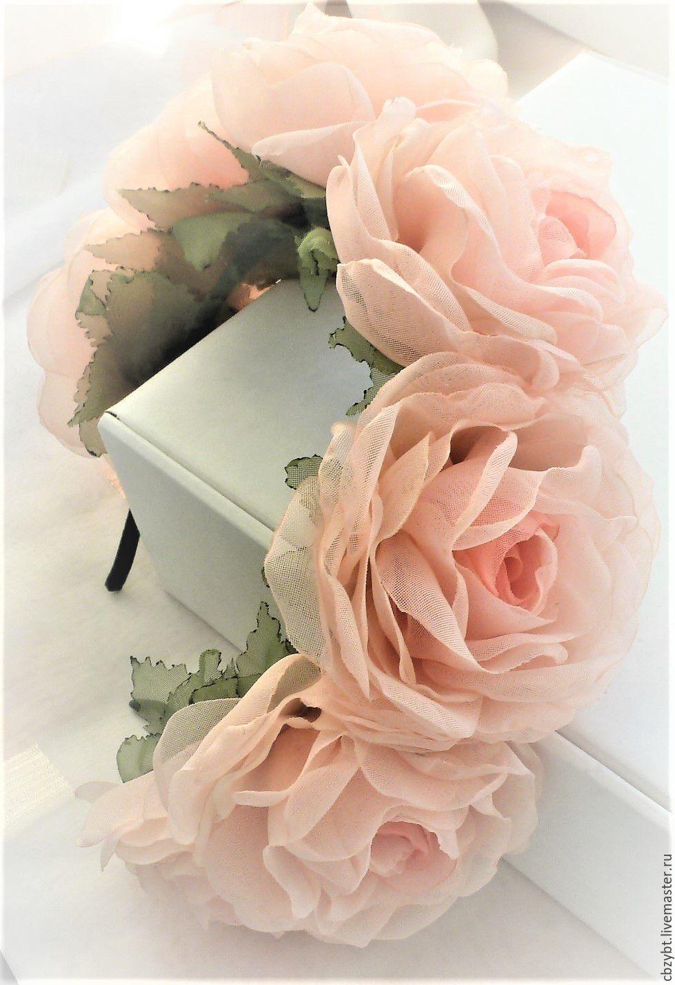 Bezel - wreath 'Rosa 'Gloire de Dijon'', Headband, Yurga,  Фото №1